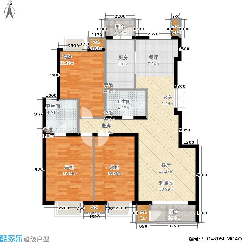 北京新天地139.55㎡二期15号楼A(售罄)户型