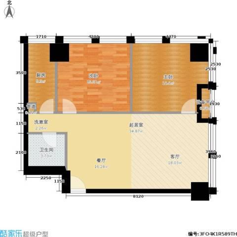 中基国际公馆2室0厅1卫1厨106.00㎡户型图