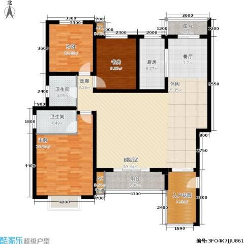 左岸王府3室0厅2卫1厨172.00㎡户型图