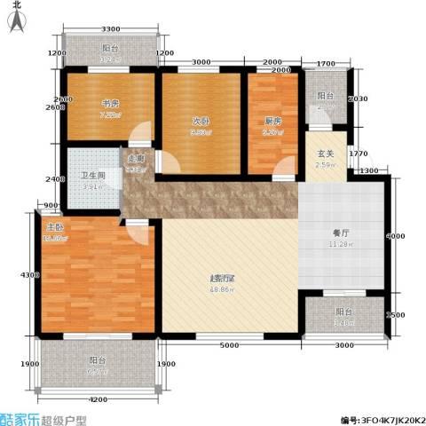 左岸王府3室0厅1卫1厨145.00㎡户型图