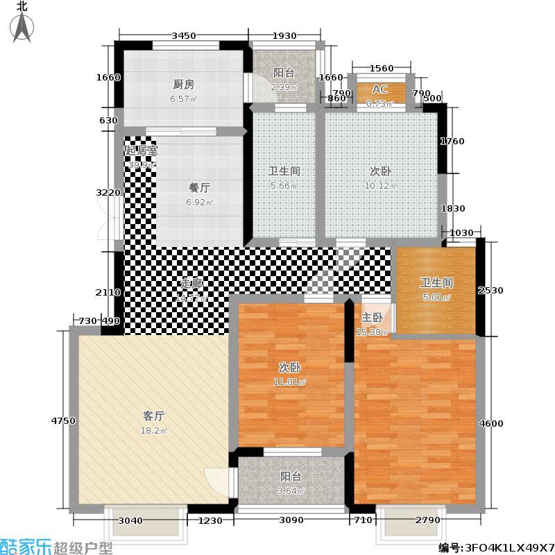 龙湖熙岸116.00㎡G10'户型3室2厅