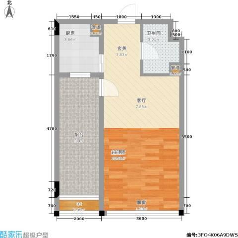 天成国际·金寓1卫1厨54.00㎡户型图