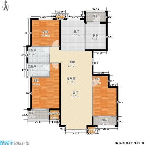 诚安逸品花园3室0厅2卫1厨154.00㎡户型图