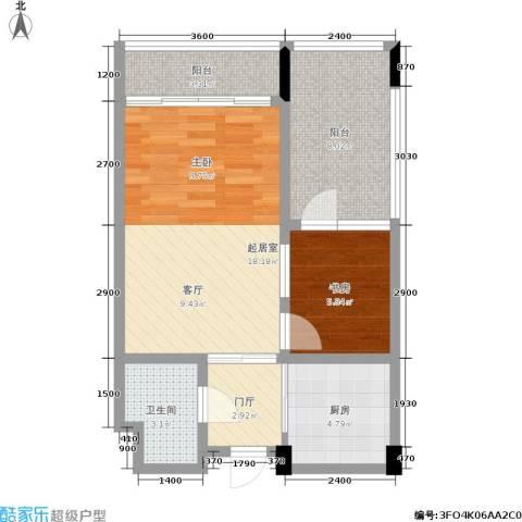 天成国际·金寓1室0厅1卫1厨66.00㎡户型图