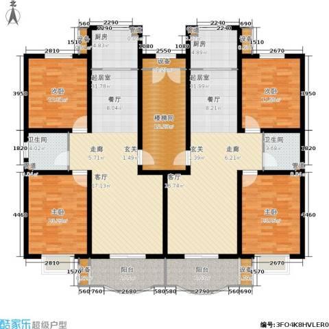 青青新城4室0厅2卫2厨159.03㎡户型图
