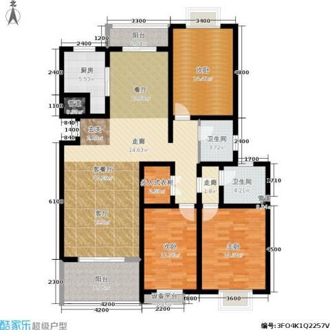 广厦水岸东方3室1厅2卫1厨152.00㎡户型图