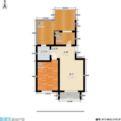 慢咖领地1室0厅1卫1厨73.00㎡户型图