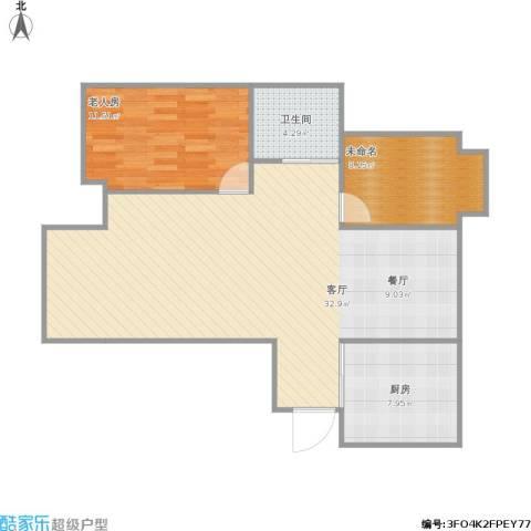 佳兆业1号1室1厅1卫1厨98.00㎡户型图