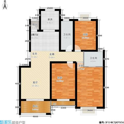 左岸王府3室0厅2卫1厨148.00㎡户型图