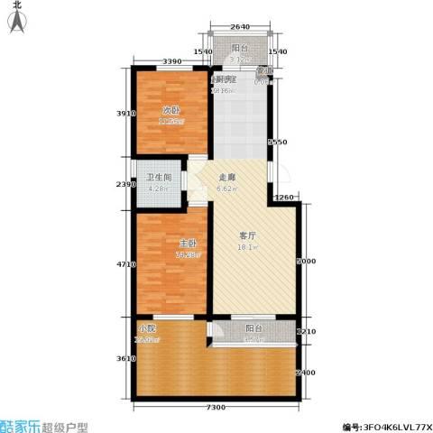 慢咖领地2室0厅1卫0厨97.00㎡户型图