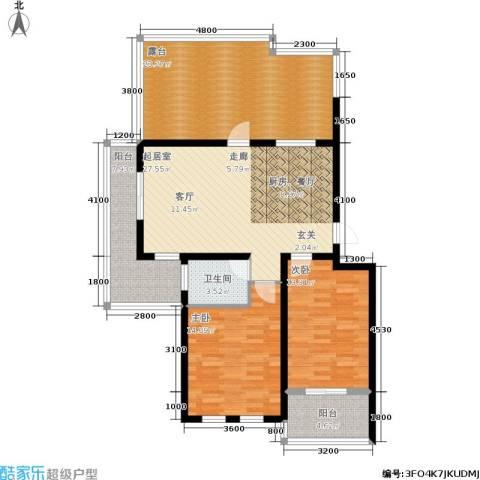 左岸王府2室0厅1卫0厨134.00㎡户型图