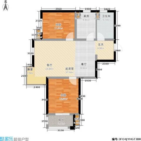 泰达汉郡2室0厅1卫1厨88.00㎡户型图