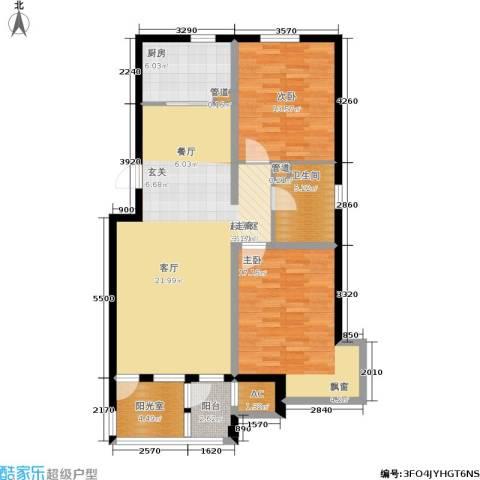 泰达汉郡2室0厅1卫1厨96.00㎡户型图