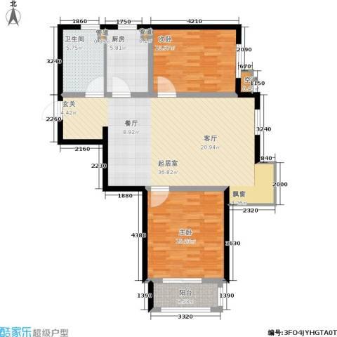 泰达汉郡2室0厅1卫1厨95.00㎡户型图
