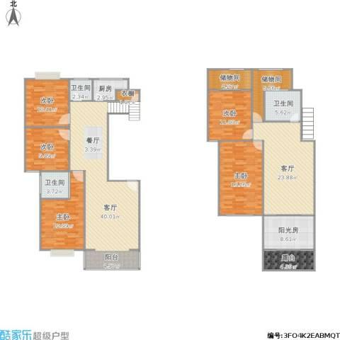 金陵世纪花园5室2厅3卫1厨220.00㎡户型图