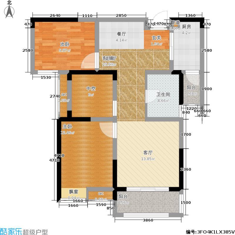 星联湾88.00㎡户型2室2厅