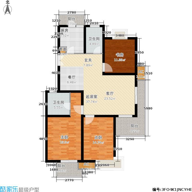 白塘壹号135.00㎡135系列户型3室2厅