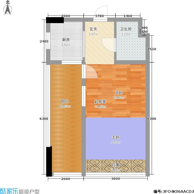 天成国际·金寓51.61㎡天成国际・金寓D户型