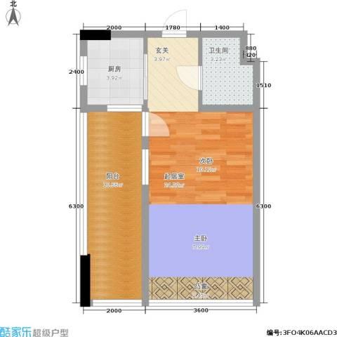 天成国际·金寓1卫1厨52.00㎡户型图