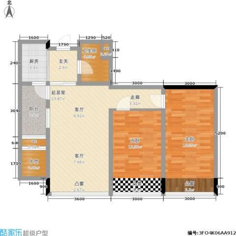 天成国际·金寓2室0厅1卫1厨89.00㎡户型图
