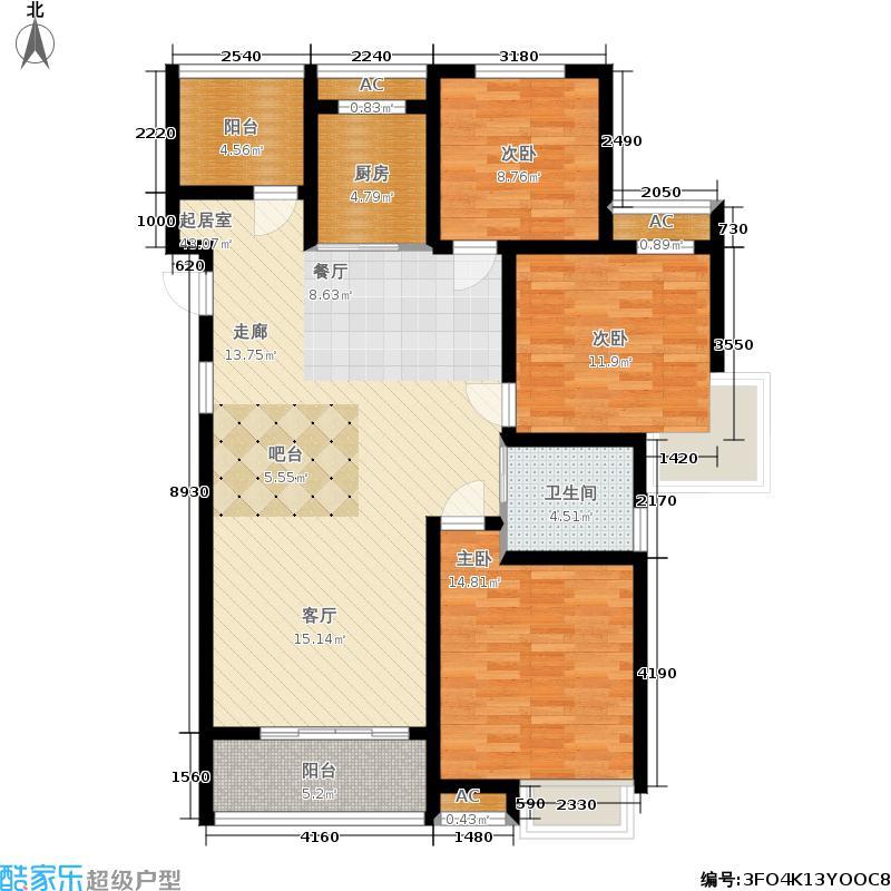 中铁诺德誉园3+户型3室2厅