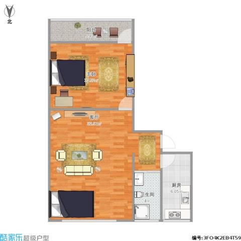 中建馨园1室1厅1卫1厨88.00㎡户型图