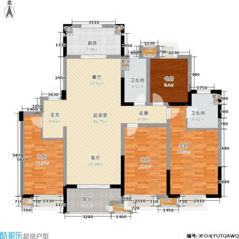 景瑞望府4室0厅2卫1厨139.00㎡户型图