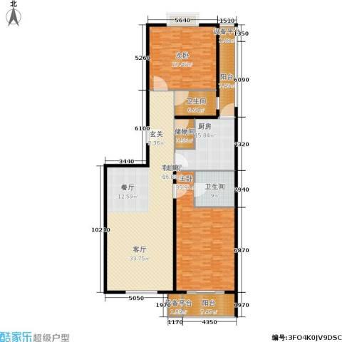 协合紫薇园2室1厅2卫1厨200.00㎡户型图