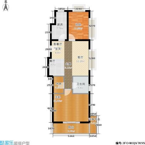 协合紫薇园3室1厅1卫1厨102.00㎡户型图