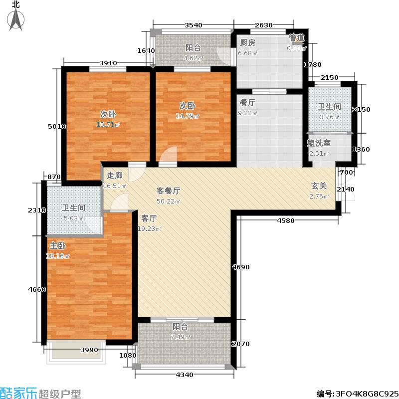 安阳义乌国际商贸城140.33㎡3#和16# A2户型 三室两厅一厨两卫140.33平方米户型3室2厅2卫