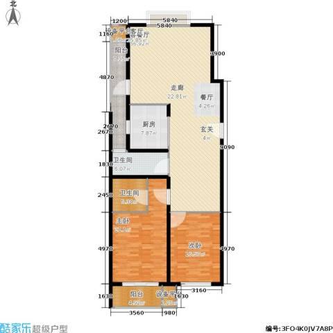 协合紫薇园2室1厅2卫1厨143.00㎡户型图