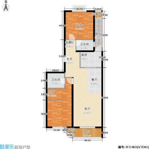 协合紫薇园2室1厅2卫1厨138.00㎡户型图