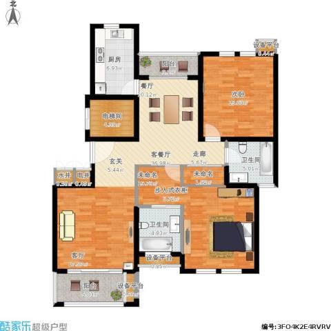 浅水湾恺悦名城1室1厅2卫1厨153.00㎡户型图