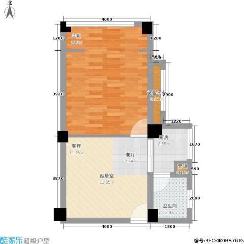 月亮湾草莓街区1室0厅1卫1厨49.00㎡户型图