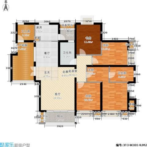 富湾国际4室0厅2卫1厨188.00㎡户型图