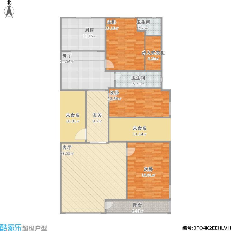 溪墘村村道中段A1户型三室两厅