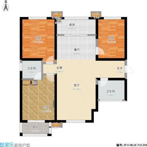 上和城3室1厅2卫1厨145.00㎡户型图