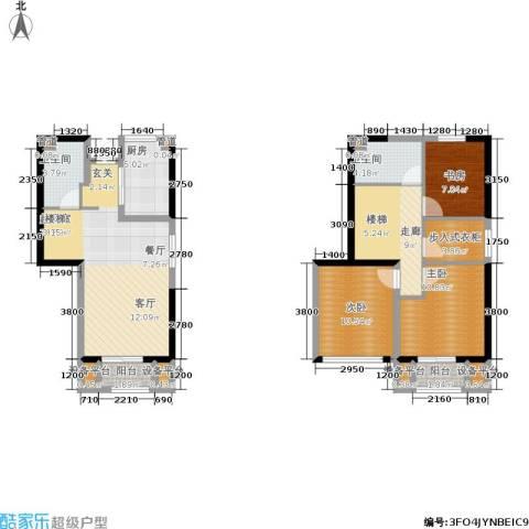 天山龍玺3室0厅2卫1厨107.00㎡户型图