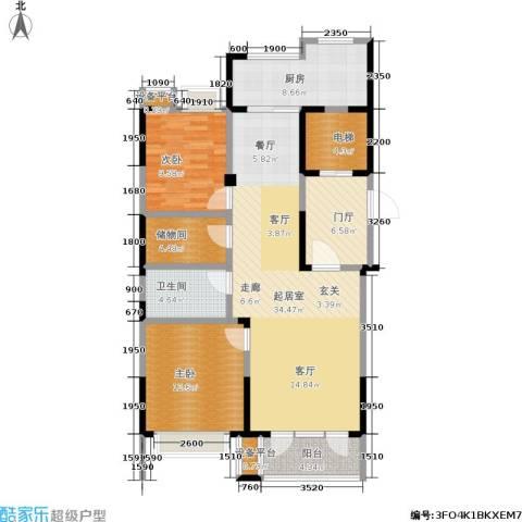 和顺中央花城2室0厅1卫1厨130.00㎡户型图
