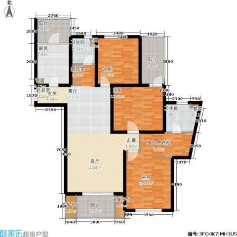 鸿城.铂兰湾3室0厅2卫1厨141.00㎡户型图