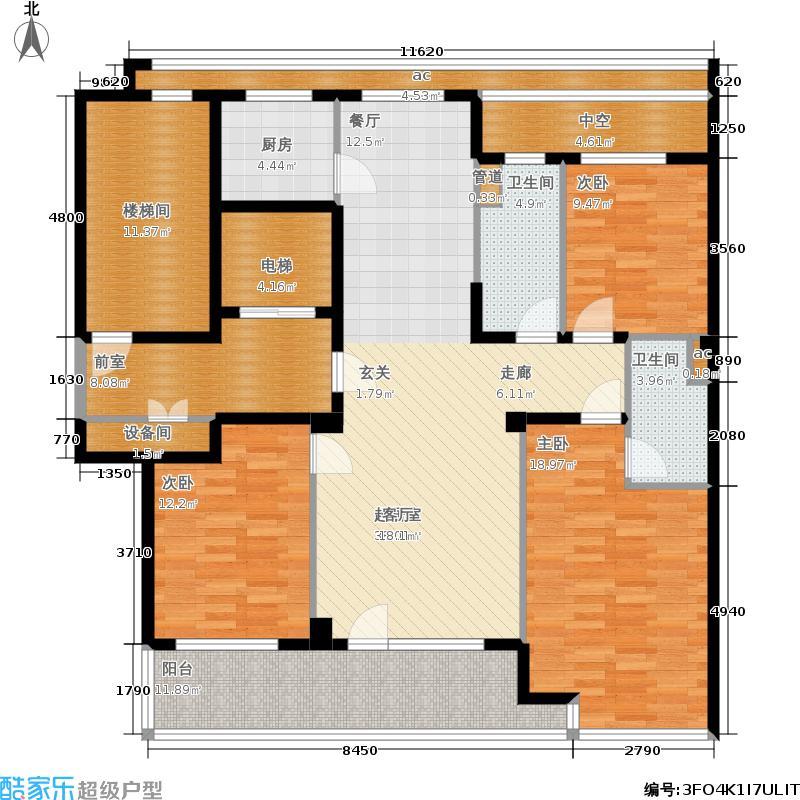绿城百合花园136.00㎡D9#楼G户型3室2厅