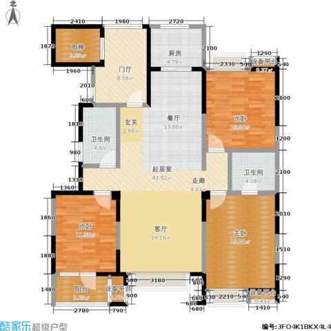 和顺中央花城3室0厅2卫1厨159.00㎡户型图
