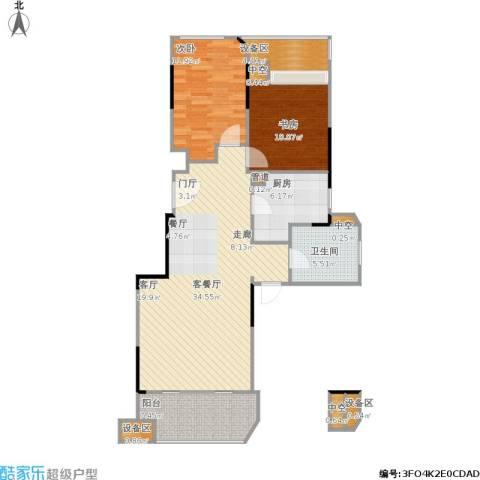 金地自在城2室1厅1卫1厨113.00㎡户型图