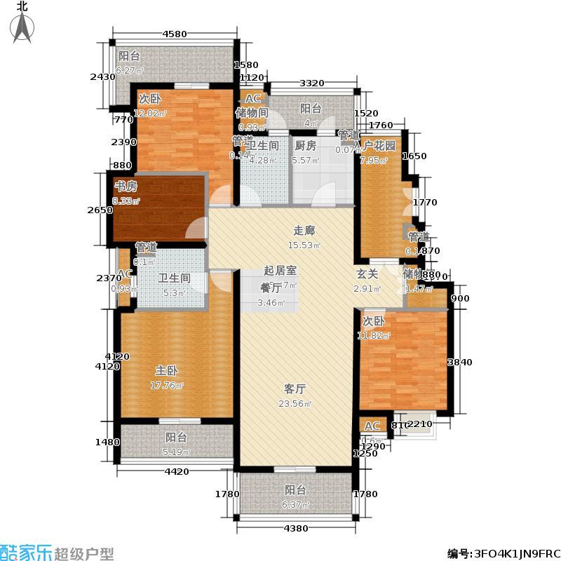 白塘壹号167.00㎡洋房F户型4室2厅