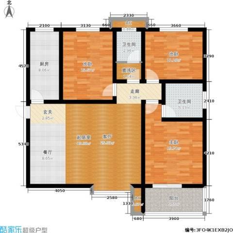 正鹏・爱欣苑3室0厅2卫1厨138.00㎡户型图
