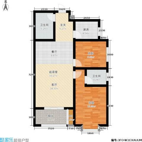 正鹏・爱欣苑2室0厅2卫1厨103.00㎡户型图