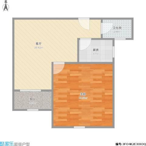 和祥佳园1室1厅1卫1厨66.00㎡户型图