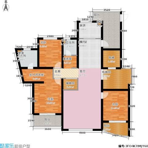 鸿城.铂兰湾3室0厅2卫1厨152.00㎡户型图