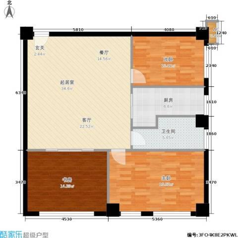 旺角花园3室0厅1卫1厨97.00㎡户型图