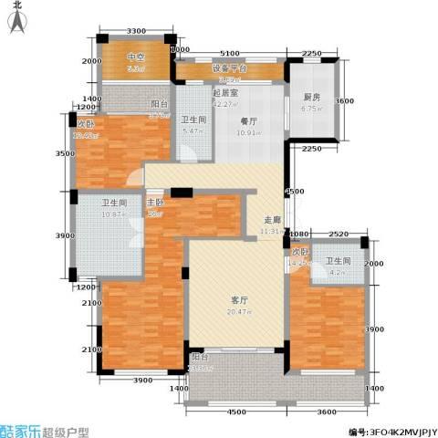 绿城桃源小镇3室0厅3卫1厨170.00㎡户型图